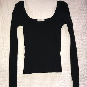 URBAN OUTFITTERS SQUARE NECK RIBBED TOP